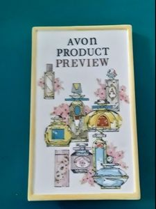 Vintage Avon Product Preview Display Sign